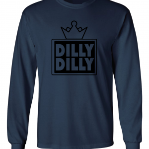 Dilly Dilly Crown, Navy/Black, Long-Sleeved