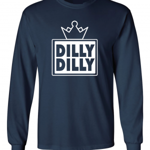 Dilly Dilly Crown, Navy/White, Long-Sleeved