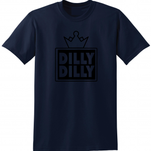 Dilly Dilly Crown, Navy/Black, T-Shirt