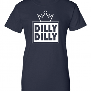 Dilly Dilly Crown, Navy/White, Women's Cut T-Shirt