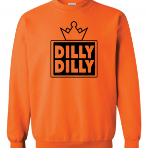 Dilly Dilly Crown, Orange/Black, Crew Sweatshirt