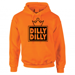 Dilly Dilly Crown, Orange/Black, Hoodie
