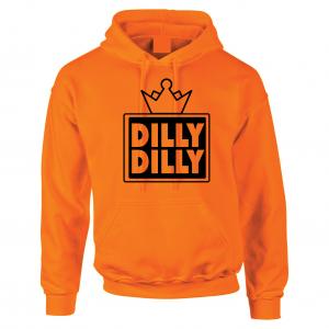 Dilly Dilly Crown, Orange/Black, Hoodie