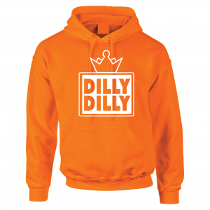 Dilly Dilly Crown, Orange/White, Hoodie