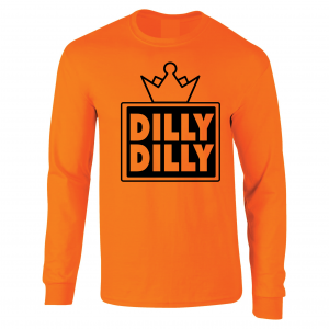 Dilly Dilly Crown, Orange/Black, Long-Sleeved