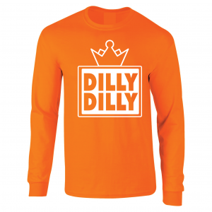 Dilly Dilly Crown, Orange/White, Long-Sleeved