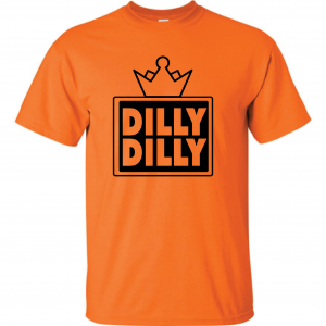 Dilly Dilly Crown, Orange/Black, T-Shirt