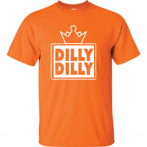 Dilly Dilly Crown, Orange/White, T-Shirt