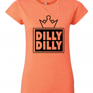 Dilly Dilly Crown, Orange/Black, Women's Cut T-Shirt