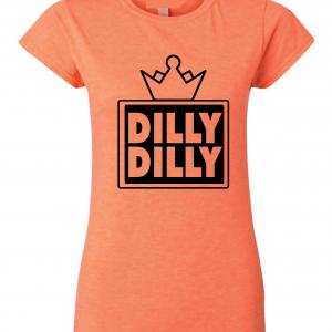 Dilly Dilly Crown, Orange/Black, Women's Cut T-Shirt