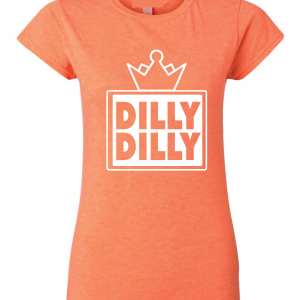 Dilly Dilly Crown, Orange/White, Women's Cut T-Shirt