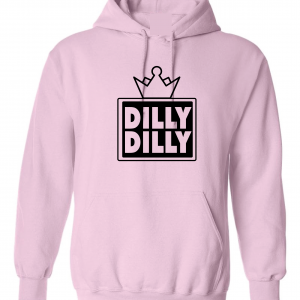 Dilly Dilly Crown, Pink/Black, Hoodie