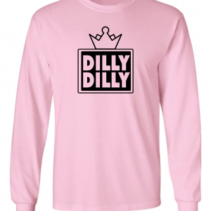 Dilly Dilly Crown, Pink/Black, Long-Sleeved