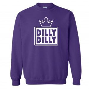 Dilly Dilly Crown, Purple/White, Crew Sweatshirt