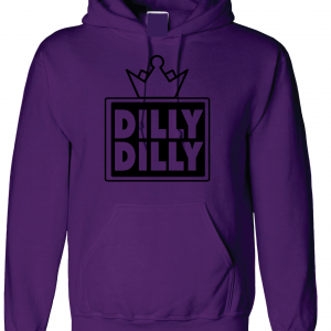 Dilly Dilly Crown, Purple/Black, Hoodie