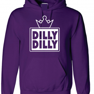 Dilly Dilly Crown, Purple/White, Hoodie