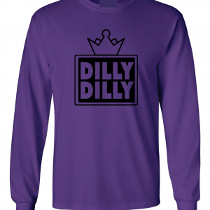 Dilly Dilly Crown, Purple/Black, Long-Sleeved