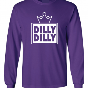 Dilly Dilly Crown, Purple/White, Long-Sleeved