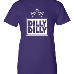 Dilly Dilly Crown, Purple/White, Women's Cut T-Shirt