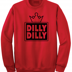 Dilly Dilly Crown, Red/Black, Crew Sweatshirt