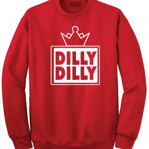 Dilly Dilly Crown, Red/White, Crew Sweatshirt