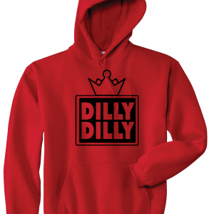 Dilly Dilly Crown, Red/Black, Hoodie
