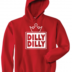 Dilly Dilly Crown, Red/White, Hoodie