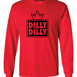 Dilly Dilly Crown, Red/Black, Long-Sleeved