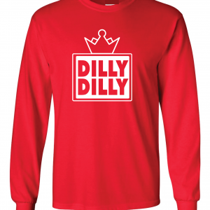 Dilly Dilly Crown, Red/White, Long-Sleeved