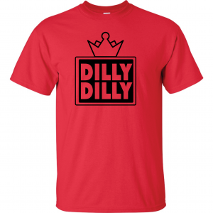 Dilly Dilly Crown, Red/Black, T-Shirt