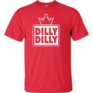 Dilly Dilly Crown, Red/White, T-Shirt