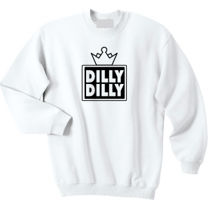 Dilly Dilly Crown, White, Crew Sweatshirt