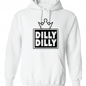 Dilly Dilly Crown, White, Hoodie