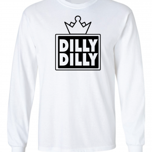 Dilly Dilly Crown, White, Long-Sleeved