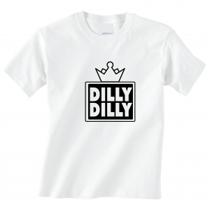 Dilly Dilly Crown, White, T-Shirt
