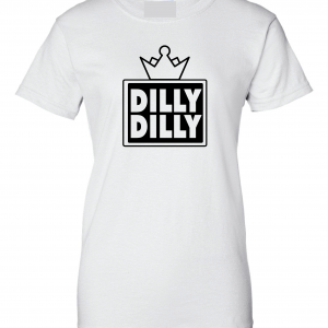 Dilly Dilly Crown, White, Women's Cut T-Shirt