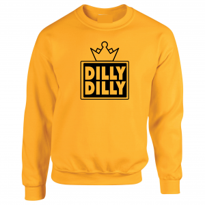 Dilly Dilly Crown, Yellow/Black, Crew Sweatshirt