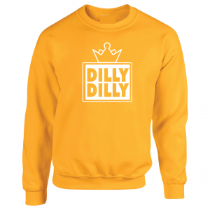 Dilly Dilly Crown, Yellow/White, Crew Sweatshirt