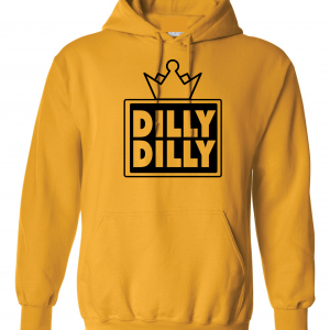 Dilly Dilly Crown, Yellow/Black, Hoodie
