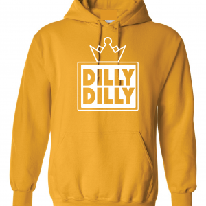 Dilly Dilly Crown, Yellow/White, Hoodie