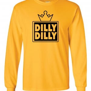 Dilly Dilly Crown, Yellow/Black, Long-Sleeved