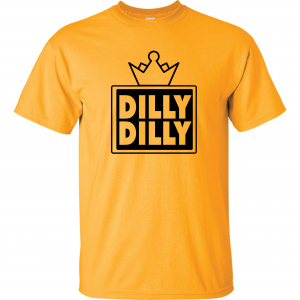 Dilly Dilly Crown, Yellow/Black, T-Shirt