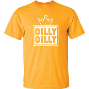 Dilly Dilly Crown, Yellow/White, T-Shirt