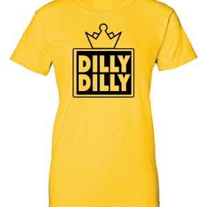 Dilly Dilly Crown, Yellow/Black, Women's Cut T-Shirt