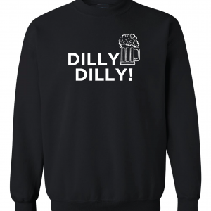 Dilly Dilly Beer, Black, Crew Sweatshirt