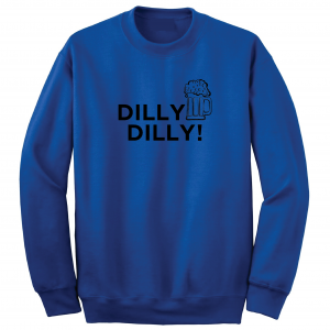 Dilly Dilly Beer, Royal Blue/Black, Crew Sweatshirt