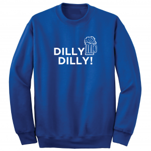 Dilly Dilly Beer, Royal Blue/White, Crew Sweatshirt