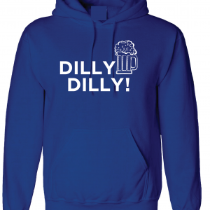 Dilly Dilly Beer, Royal Blue/White, Hoodie