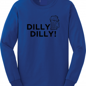Dilly Dilly Beer, Royal Blue/Black, Long-Sleeved