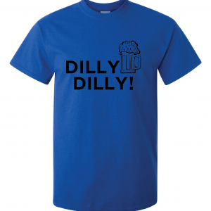 Dilly Dilly Beer, Royal Blue/Black, T-Shirt